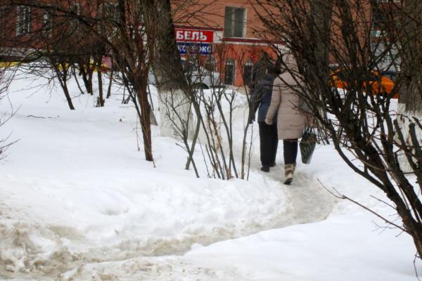Лужи на улицах Домодедово
