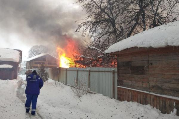 Пожар на улице Кирова