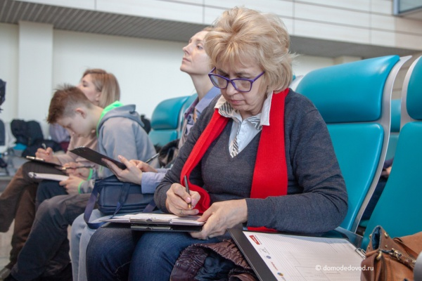 «Тотальный диктант» с Дианой Арбениной в аэропорту Домодедово