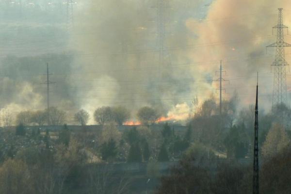Пожар в Домодедово