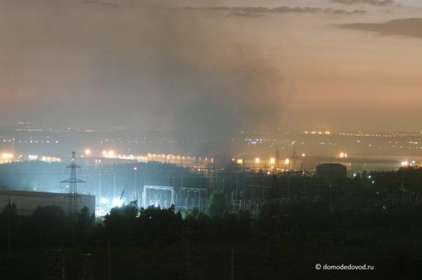 Домодедово в дыму