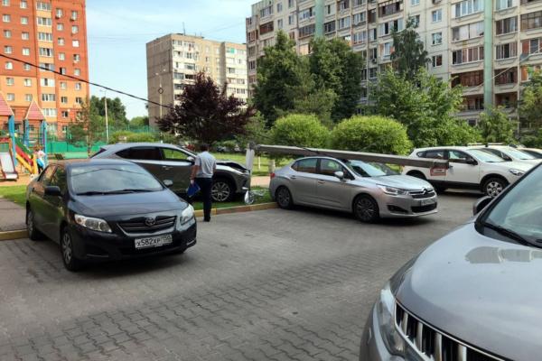 ДТП со столбом в Домодедово