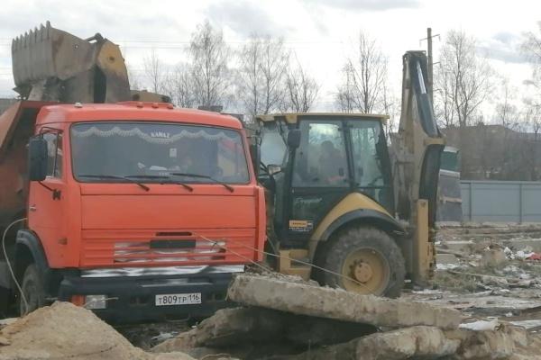 В Домодедово выявлено незаконное размещение строительных отходов