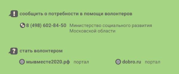 Куда в Подмосковье обращаться с вопросами о карантинных мерах