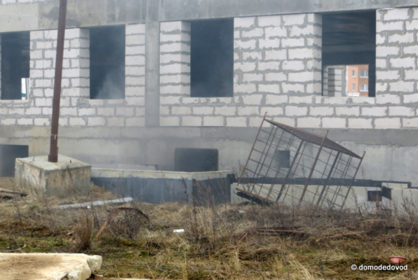 Недостроенный детский сад в Южном Домодедово