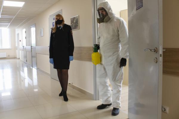 В УМВД России по г.о. Домодедово проведена санитарная обработка помещений