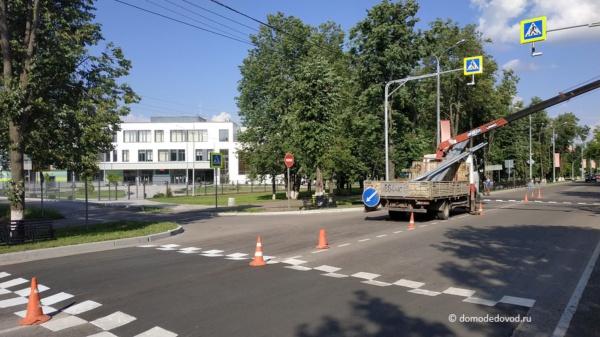 Пешеходный переход на Советской улице