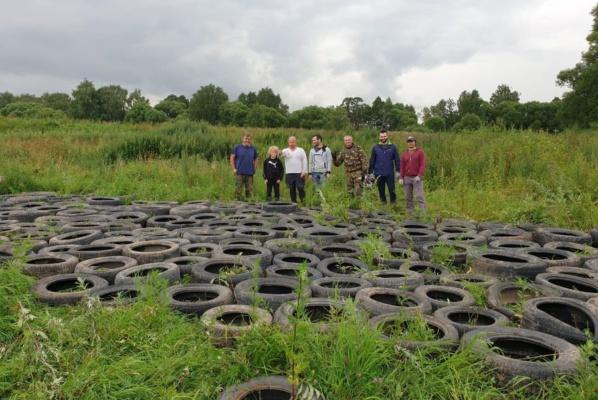 В Домодедово собрали более 100 шин