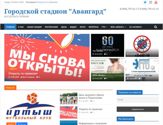 Сайт стадиона «Авангард»