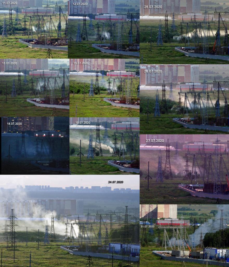 Пожар на свалке в Домодедово
