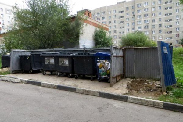 Уборка мусора с контейнерной площадки
