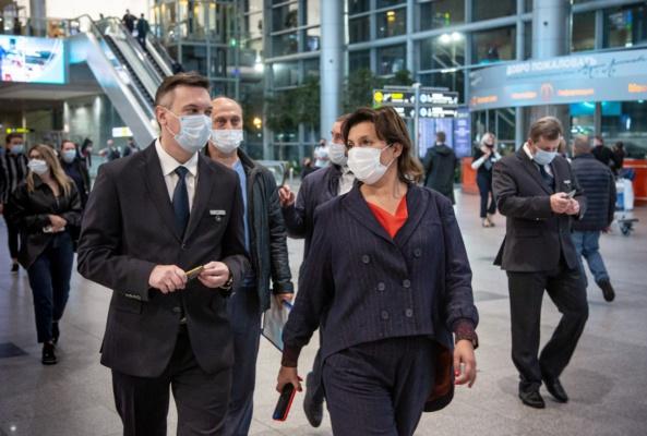 Меры санитарной безопасности в аэропорту Домодедово