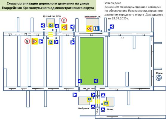 Схема дорожного движения в Шахово