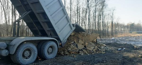Незаконный сброс мусора в лесах