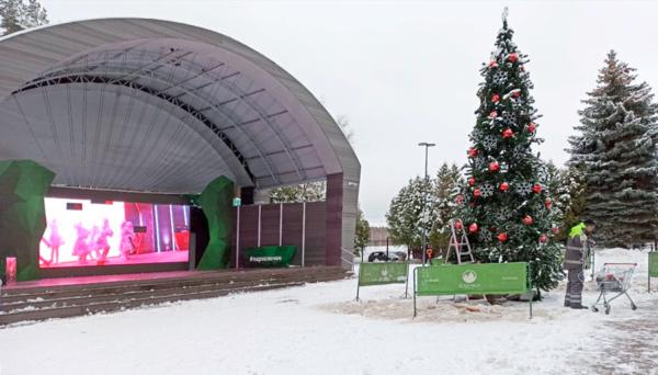 В Елочках готовятся к Новому году