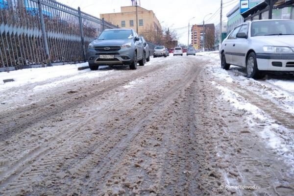Уборка снега в Домодедово. Улицы Коломийца и Новая