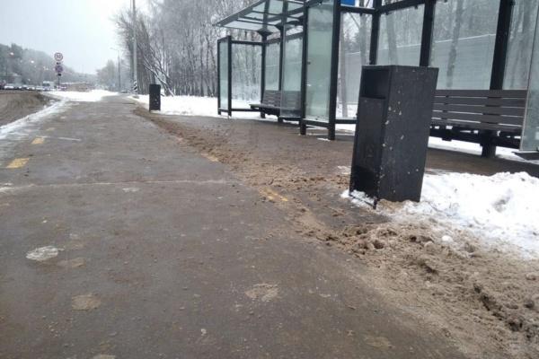 Так убирают снег в Домодедово