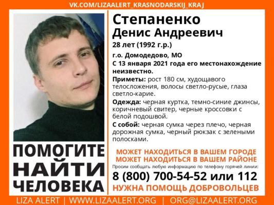 Степаненко Денис Андреевич 28, г.о. Домодедово