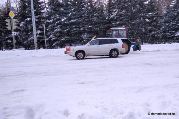 Снегопад в Домодедово 13.02.2021