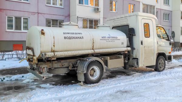 Бочка с водой в ЖК Домодедово Парк