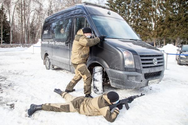 Тренировка службы безопасности аэропорта Домодедово