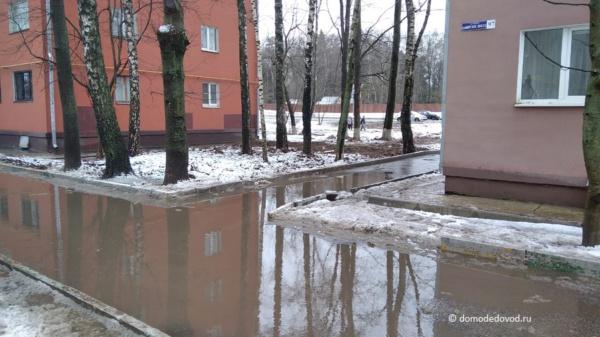 Лужи в Домодедово