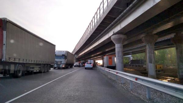 Пробки на бетонке А-107