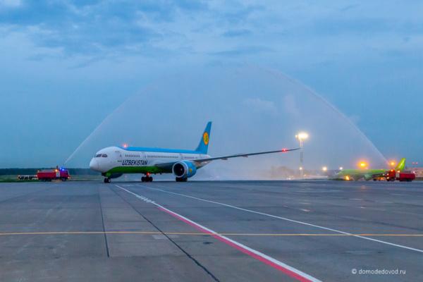 Самолет Boeing 787 Uzbekistan Airways в аэропорту Домодедово