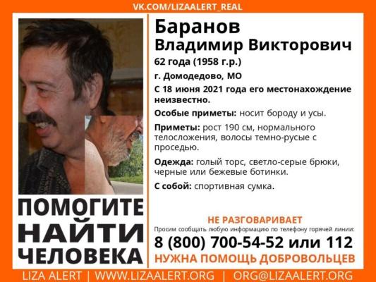 В Домодедово вновь идут поиски пропавшего человека