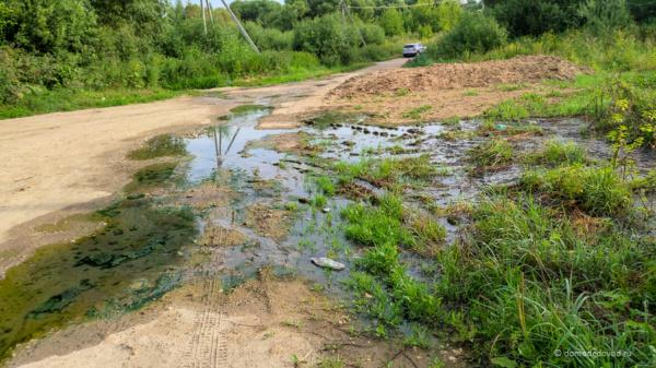 Сброс канализации в реку Рожайка