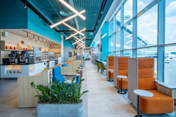 Новый бизнес-зал открылся в галерее вылета внутренних авиалиний Домодедово