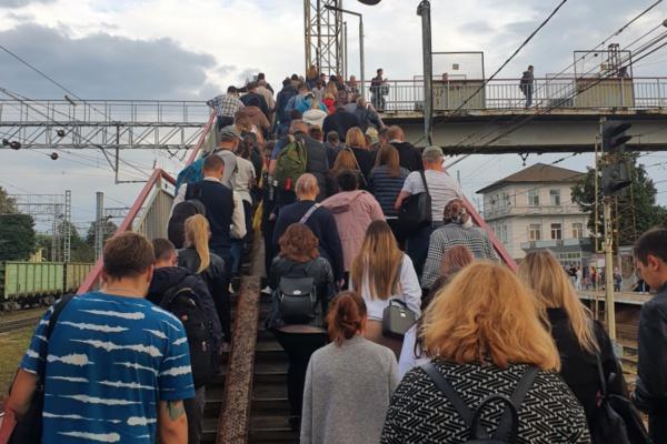 Станция Домодедово. Пешеходный мост