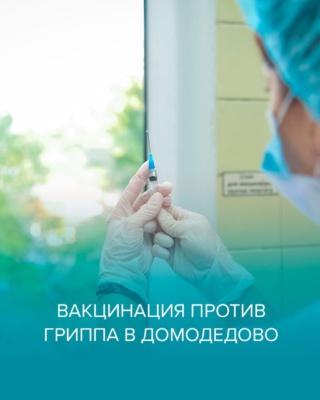 Вакцинация против гриппа в Домодедово