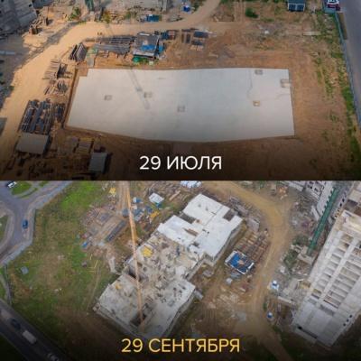 Продолжается строительство детского сада в ЖК «Домодедово Парк»